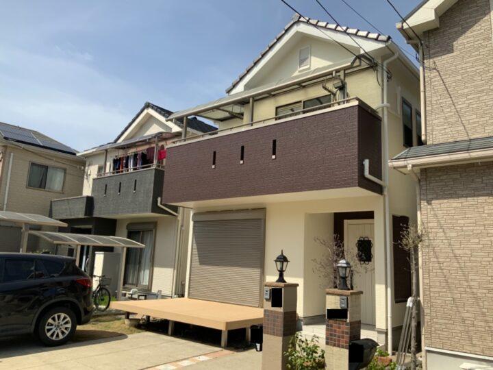 熊取町 外壁塗装工事 完工日:2021/4/1