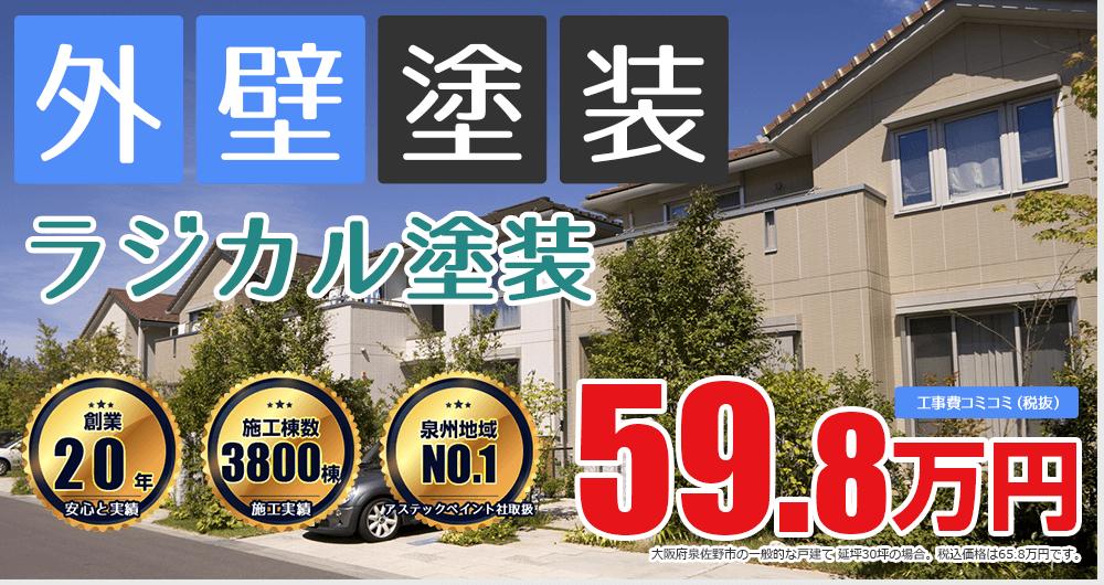 美観性シリコンラン塗装 65.8万円